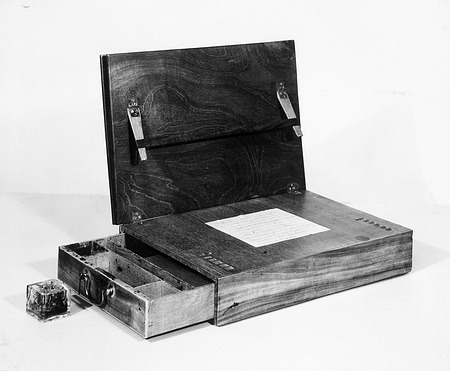 Jefferson's Writing Desk, by Unknown, c. 1991, Smithsonian Archives - History Div, 91-3681.