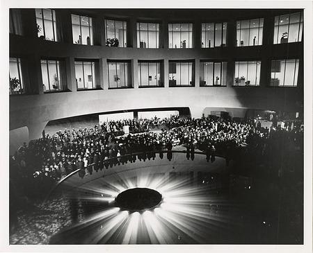 Interior Court of Hirshhorn Museum and Sculpture Garden on Opening Night