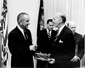 Secretary Ripley with President Johnson