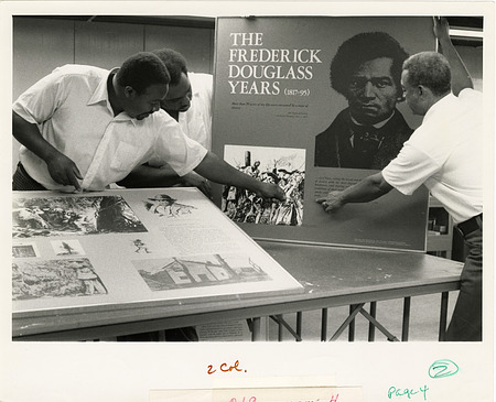 Anacostia Neighborhood Museum Design Lab Staff Work on Frederick Douglass Exhibit