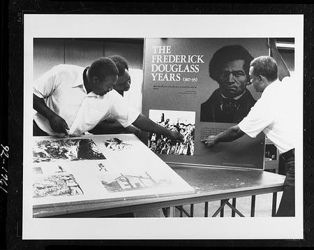 ANM Design Lab staff work on Douglass Exhibit