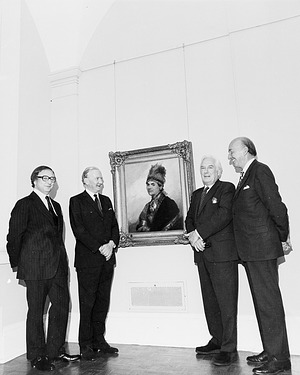 At NPG with Portrait of Thayendanega