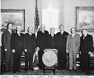 Swearing in of Secretary Leonard Carmichael