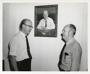 T. Dale Stewart and J. Lawrence Angel with Painting