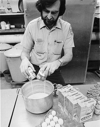 Grayson Harding prepares meal, NZP