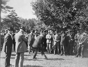 Freer Gallery Groundbreaking, by Unknown, 1916, Smithsonian Archives - History Div, 94-4417.