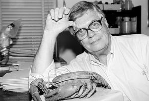 C.W. Hart Jr. with a Crayfish