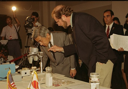Emperor Akihito of Japan Visits the Smithsonian