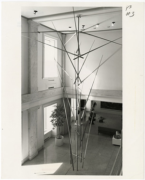"""Kinetic Sculpture """"Twenty Four Lines"""" by George Rickey at NCFA"""