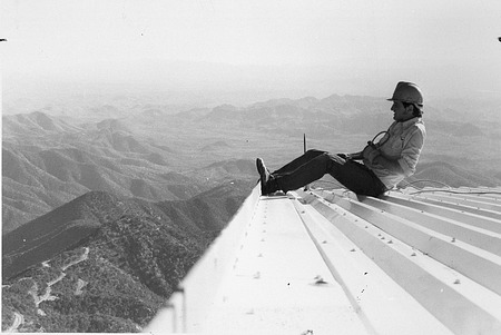 Danny West Atop MMT Building, by Chacon, Vicki, 1978, Smithsonian Archives - History Div, 94-8334.
