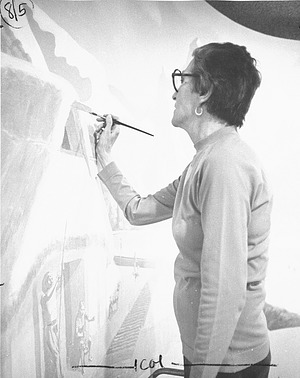 Wilma Riley at Work, by Clark, Chip, 1978, Smithsonian Archives - History Div, 94-8335.