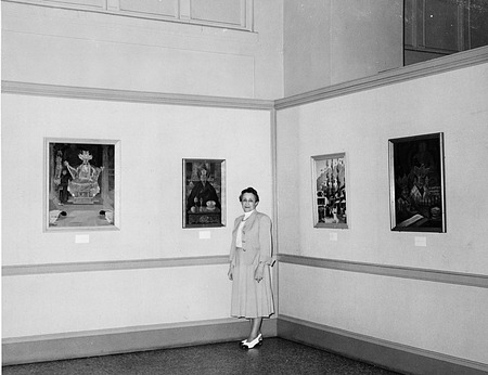 Lafugie Exhibition at NCFA, by Unknown, 1948, Smithsonian Archives - History Div, 94-9282.