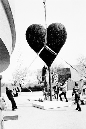 Installation of Jim Dine's Exhibit at HMSG