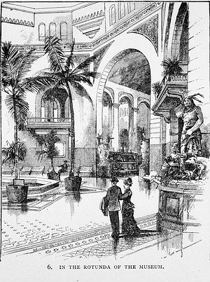 Engraving of the Rotunda in the United States National Museum