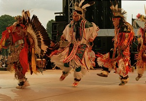 Native American Dancers Performing at the 150th Birthday Party on the Mall