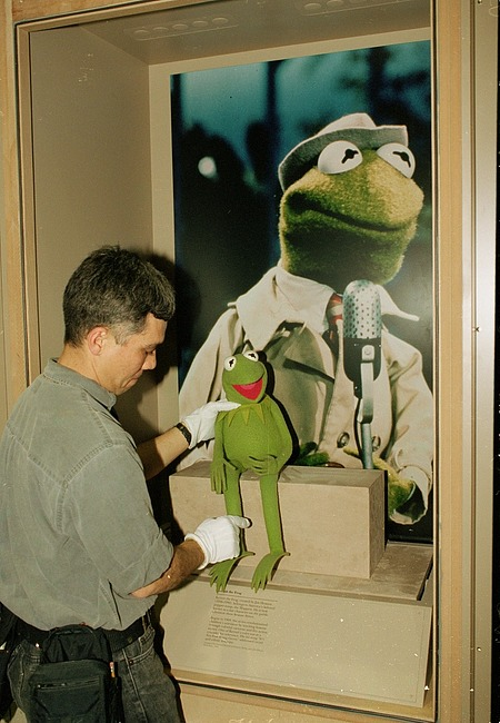 Installing Kermit the Frog Puppet at LA Convention Center