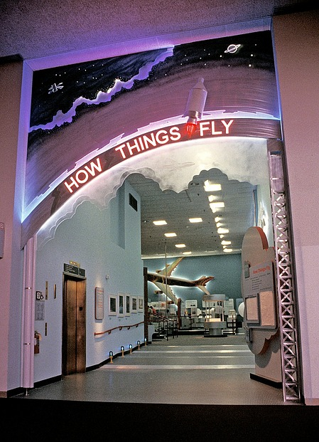 "Entrance to ""How Things Fly"", 1997, Smithsonian Archives - History Div, 97-15002."