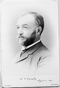 Samuel P. Langley, by Unknown, 1887, Smithsonian Archives - History Div, 10610 or MAH-10610.