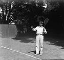 Secretary Charles G. Abbot Playing Tennis
