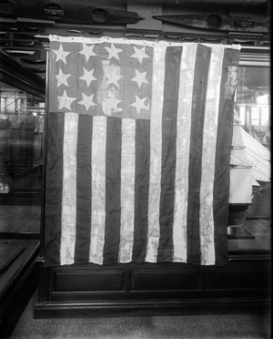 An American Flag, by Unknown, circa 1890, Smithsonian Archives - History Div, 21905 or MAH-21905.