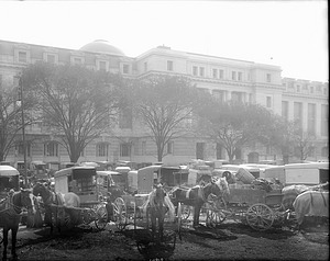Center Market Outside National Museum of Natural History, 1909
