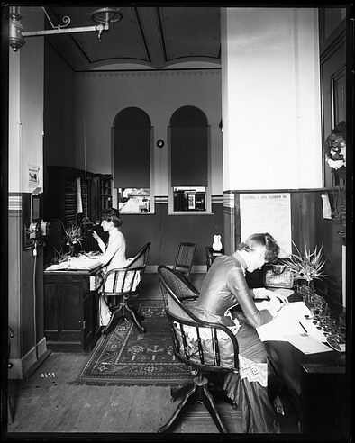 Women in Telegraph Office, 1880, Smithsonian Institution Archives, SIA Acc. 11-006 [MAH-3677].