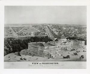 Lithograph, View of Washington, 1852