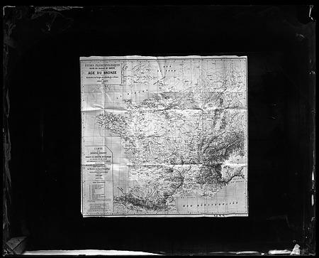 """Map of France, """"Etudes Paleoethnologiques dans le Bassin du Rhone"""""""
