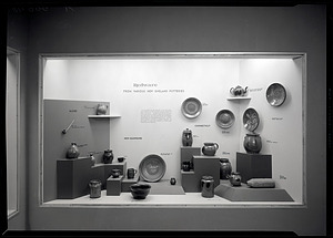 """""""Redware from Various New England Potteries"""" Exhibit Case, Hall 26, Museum of Natural History"""