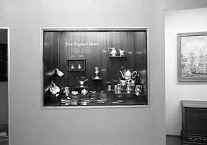 """""""New England Silver"""" Exhibit Case, Hall 26, Museum of Natural History"""