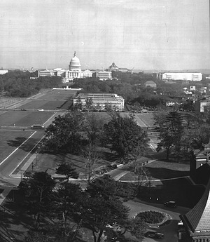 Looking Towards the Capitol from Smithsonian Institution Building - A Panoramic View of Washington, D.C