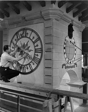 Clock Tower on Exhibit in NMHT