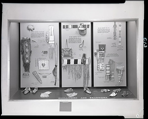 """Quillwork and Beadwork"" Exhibit Case"
