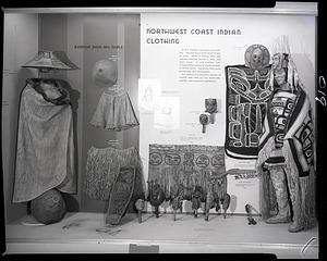 """""""Northwest Coast Indian Clothing"""" Exhibit Case"""