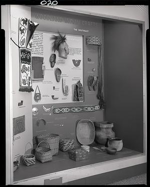 """Woodland Indian Crafts"" Exhibit Case"