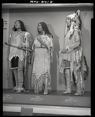 """""""The Plains Indians Wore their Finest Garments on Ceremonial Occasions"""" Exhibit Case"""