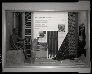"""West African Textiles"" Exhibit Case"