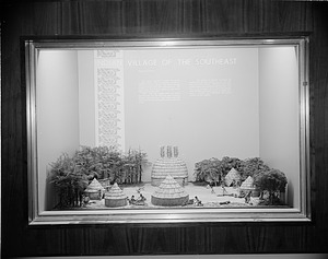 Diorama of an Indian Village of the Southeast