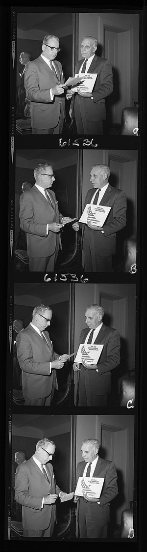 Personnel Director Joseph A. Kennedy and Assistant Secretary James C. Bradley