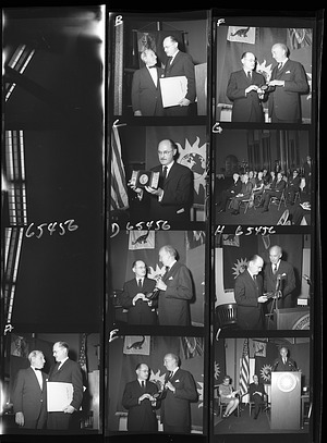 Presentation of Smithson Medal, 1968, Smithsonian Institution Archives, SIA Acc. 11-008 [OPA-1253].