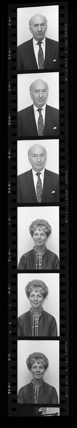 Passport Photos of Secretary S. Dillon Ripley and Mary Livingston Ripley