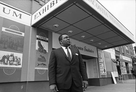 Director John R. Kinard in front of Anacostia Neighborhood Museum