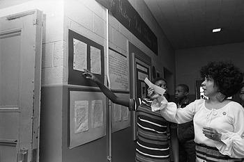 Louise Daniel Hutchinson teaching at an Anacostia elementary school
