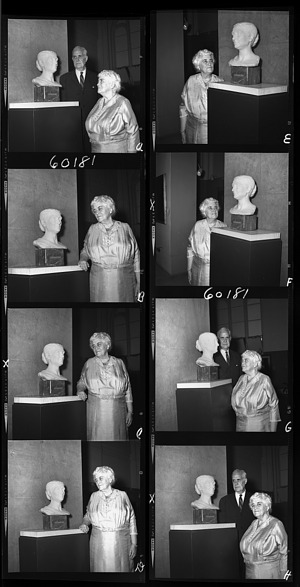 Frances T. Hill Donates Bust of Mary Baker Eddy