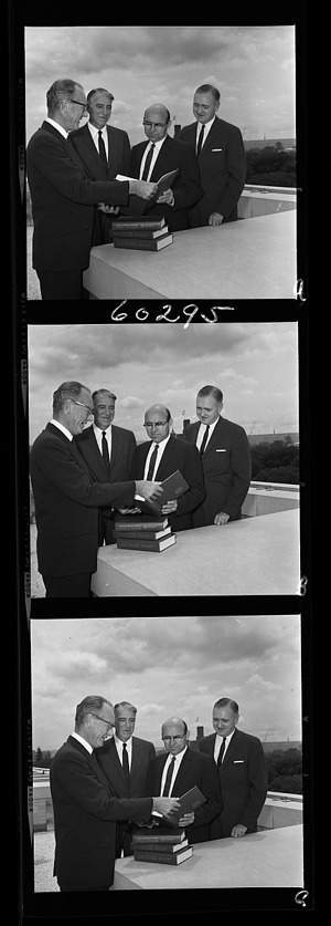 Presentation of Star Catalog, 1966, Smithsonian Institution Archives, SIA Acc. 11-008 [OPA-896].