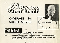 Atom Bomb Coverage by Science Service