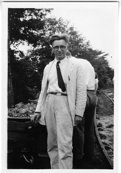 George Washington Rappleyea (1894-1966), standing at mine, Dayton, Tennessee
