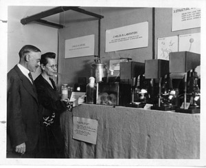 Sophia A. Satina (1879-1975) and Albert Francis Blakeslee (1874-1954), Shown With Samples of Mold