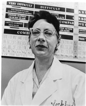 Wanda G. Bradshaw, 1962, Smithsonian Institution Archives, SIA Acc. 90-105 [SIA2007-0338].
