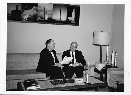 (left to right) Thomas Keith Glennan (1905-1995) and William Littell Everitt (1900-1986)